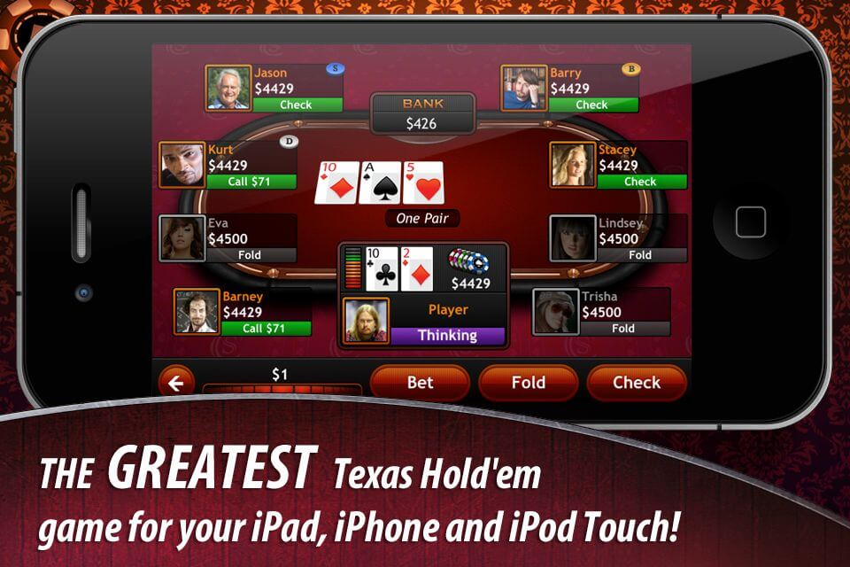 Free casino Texas Hold'em poker app